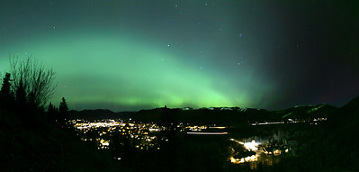 The northern lights over Ketchum and Sun Valley, Idaho.