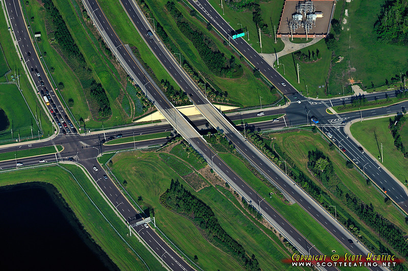 "Winter Garden, Florida - the interchange of Rte 429-Western Expressway, Stoneybrook West Parkway, and Winter Garden Vineland Rd<br> <a href=""http://www.gettyimages.com/detail/photo/winter-garden-429-interchange-royalty-free-image/147870933"">Available for licensed use</a>"