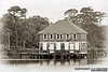 """Ormond Yacht Club (c.1910) - Ormond Beach, FL -- Vintage-Look Suitable Sizes: 4x6, 8x12, 12x18, 16x24,  puzzles, and specialty items  Please specify """"true color"""" when ordering <i>Note: Vintage lettering along bottom of image remains in prints</i>"""