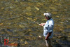 """""""I think this tenkara (fly fishing with a fixed line and no reel) is kind of a metaphor for society where we don't need all of this technology to fix all of our problems. It's so effective you can't believe it. I rarely go out when I don't catch 50 to 60 fish...<br /> <br /> """"The challenge for a lot of people is that you've got to fish where the fish are. It's like the rule of being a burglar. You burgle where the money is. You've got to fish where the fish are, and that's what takes the longest to learn.""""<br /> <br /> -Yvon Chouinard, Jackson, Wyoming <br /> <br /> (Photographed on the Big Wood River in Hailey, Idaho. Chouinard is founder of the outdoor clothing and equipment company Patagonia. An avid tenkara fly angler, Chouinard also leads Patagonia in a fashion that promotes planetary sustainability over the bottom line. """"I never even wanted to be in business,"""" he said for an April 26, 2012 article in The Wall Street Journal. """"But I hang onto Patagonia because it's my resource to do something good. It's a way to demonstrate that corporations can lead examined lives."""""""