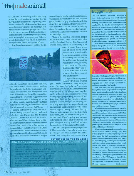 Esquire Magazine - 1988, Giardia Micrograph