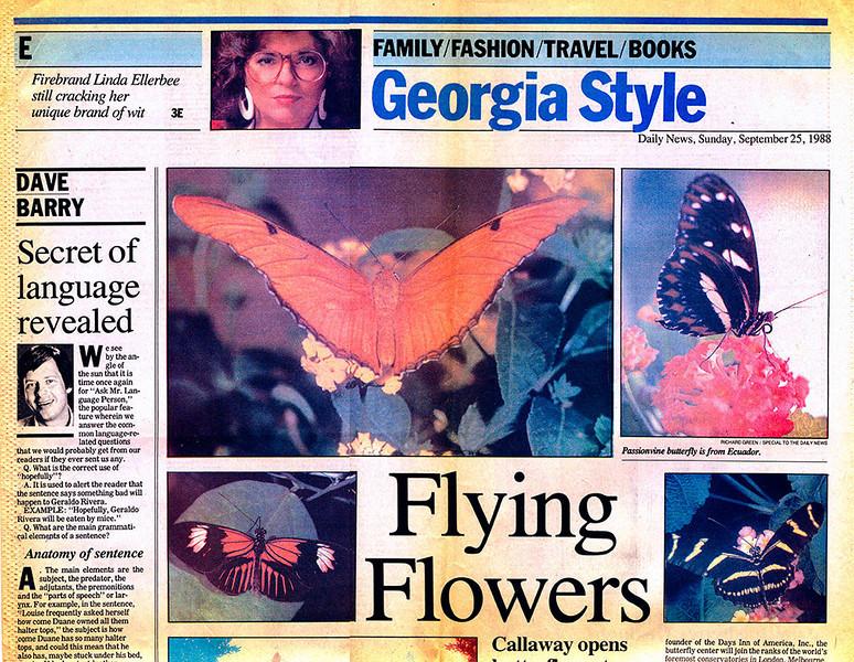 Atlanta Daily News - 1988, Callaway Gardens Butterflies