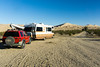 A free, dispersed campsite at the Kelso Dunes. Taken in the Mohave National Preserve, Caifornia, USA.
