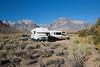 A dispersed campsite in the Eastern Sierra, California, USA.