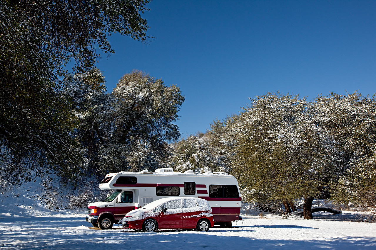 A dispersed campsite. Taken in the Coronado National Forest near Patagonia, Arizona, USA.