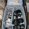 """Camera Equipment In the Roller Bag"""