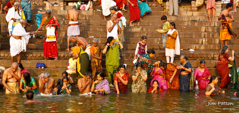 Bathing in the Holy Ganges