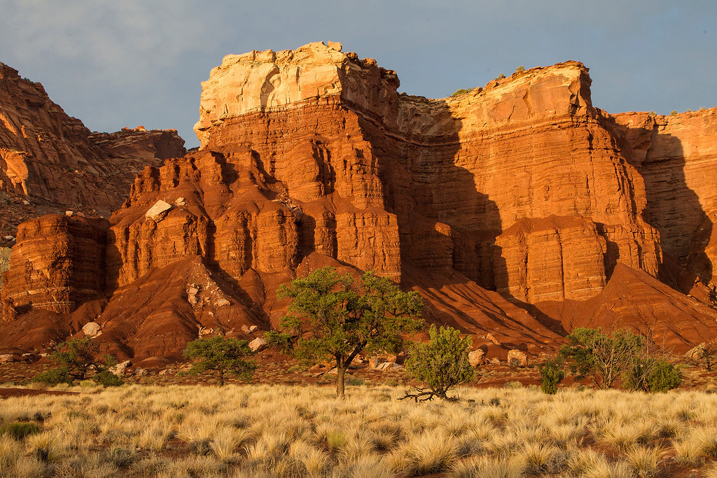 A massive Butte in Utah found on the way to Monument Valley