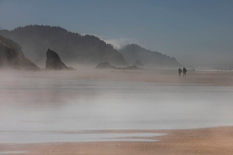 Morning mist, Hug Point State Park, Oregon