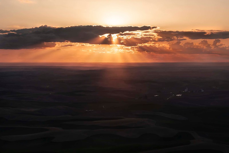 Sunset from Steptoe Butte, Washington