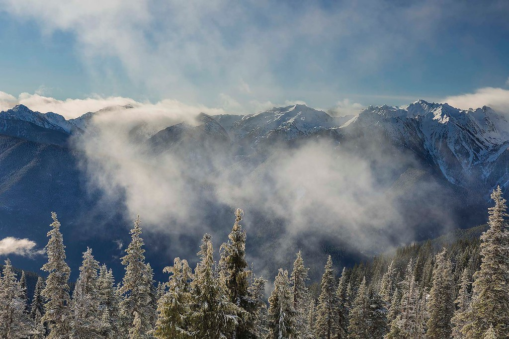 First look, Olympic Mountains from Hurricane Ridge, Olympic National Park, Washington