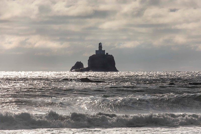 Tillimook Rock Lighthouse, from Ecola State Park, Oregon
