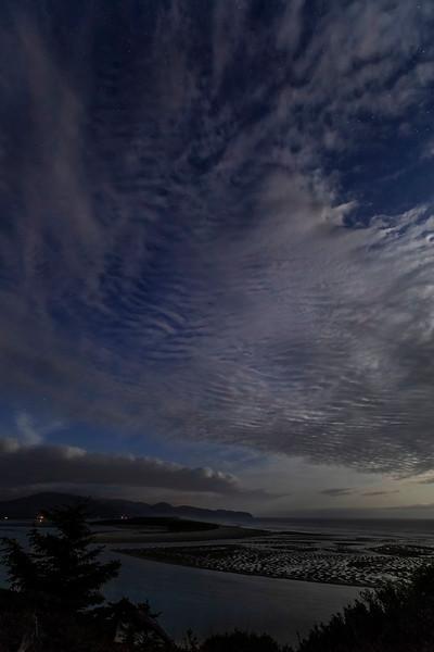 Netarts Estuary under moonlite, 3am, Oregon