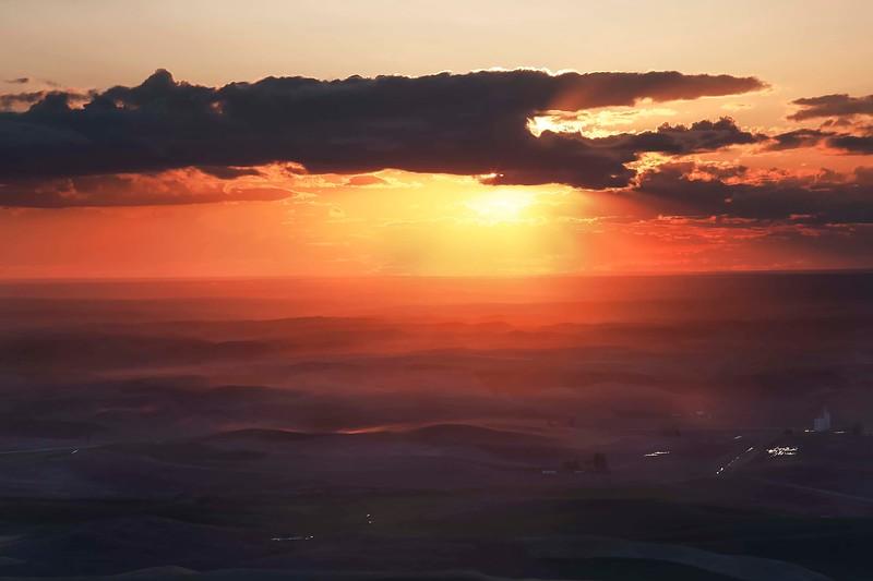 Dusty sunset from Steptoe Butte
