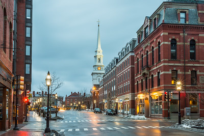 Streets of downtown Portsmouth, NH