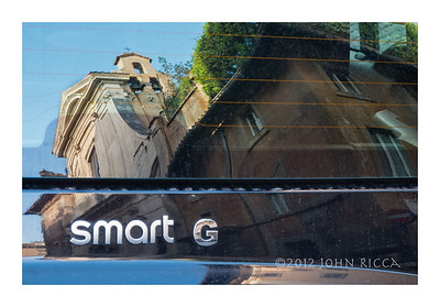 Car Reflection, Rome