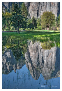 Cathedral Peaks Spring Reflection