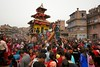 Thousands of devotees gather in Yoshin Khel to make offers at Bhairab's chariot