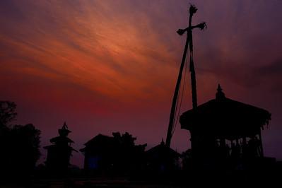 dawn on the new year in Yoshin Khel. (Bhaktapur, Nepal)