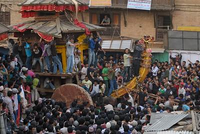 Deo Thaha Biyakegu: Bhairab's chariot on his way to Taumadhi tole
