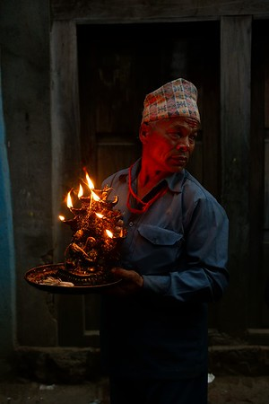Deo Thaha Biyakegu: a seven fires lamp opens Bhairab procession
