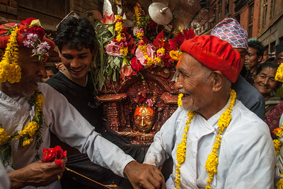 9th day of Bisket Jatra: transfering Bhairab on his chariot
