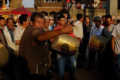 dancing in Durbar square