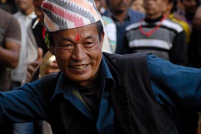happy bhaktapurian dancing