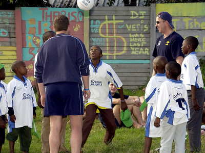 "The Royal Air Force Football Association visit the Itumeleng ""Sunnyside"" Shelter"