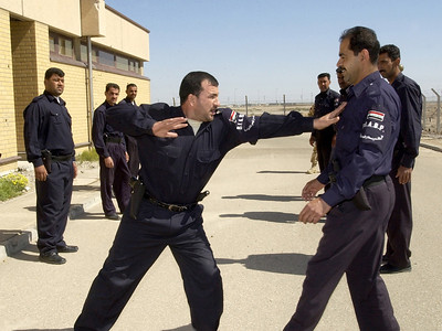 Crowd control training - Directorate of Border Enforcement training at Basrah Air Station