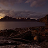 The Cuillins at dusk, Elgol, Skye