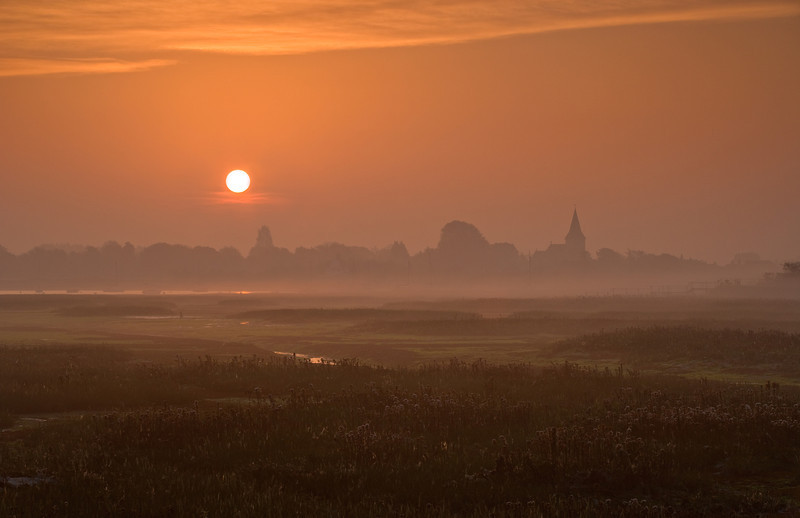 Misty Bosham dawn, West Sussex