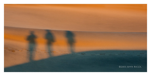 Three Shadowy Figures, Death Valley