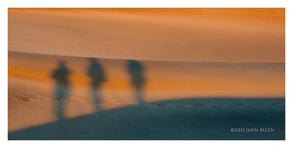 Three Shadowy Figures, Death Valley