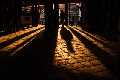 shadows of Kashtamandap temple (Kathmandu, Nepal)