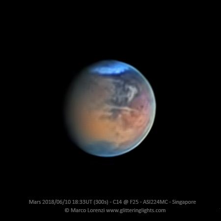 Mars on June 10, 2018