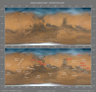 Albedo Map of Mars - 2020 Opposition