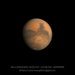 Mars on December 1st, 2020