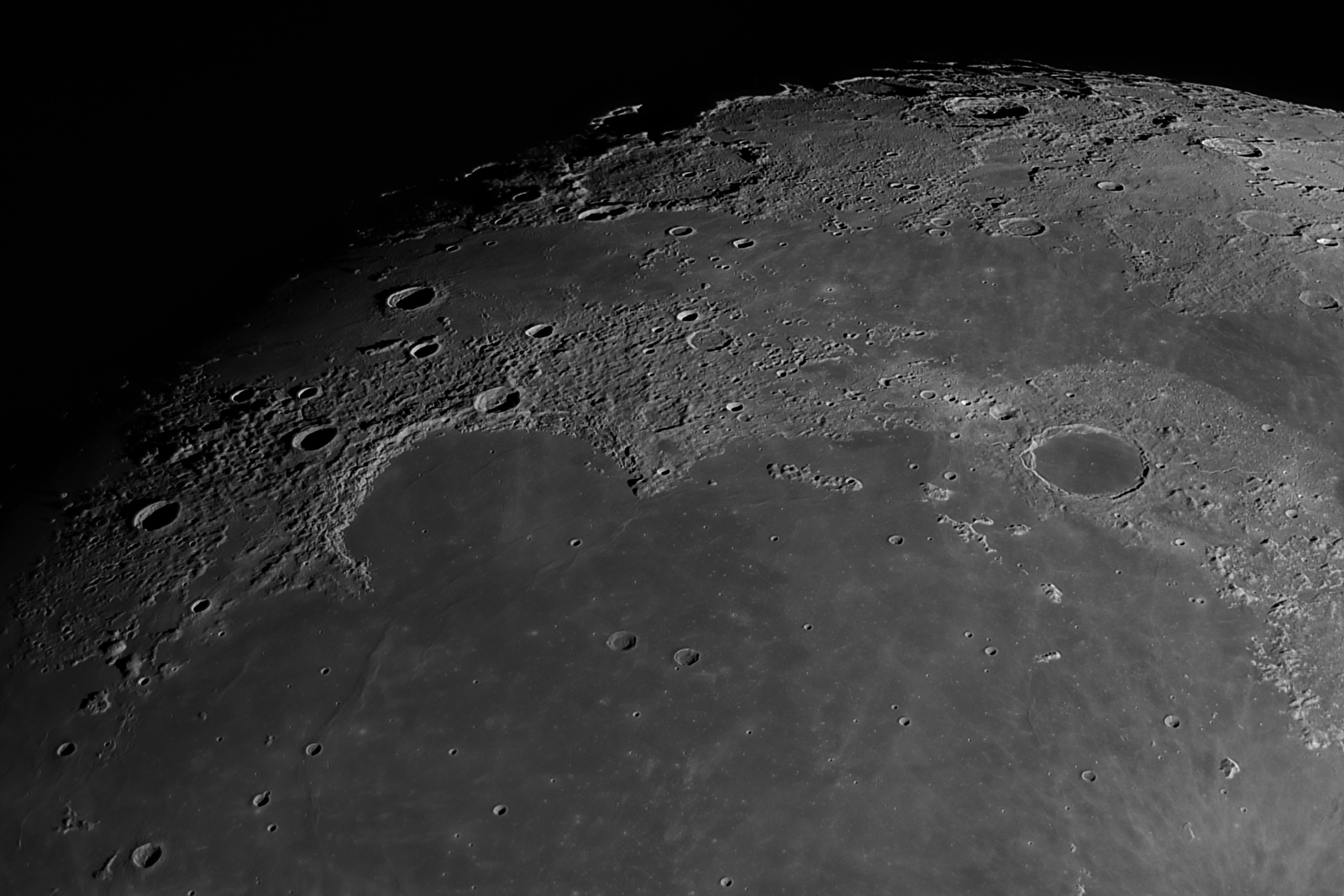 Crater Plato and Sinus Iridum