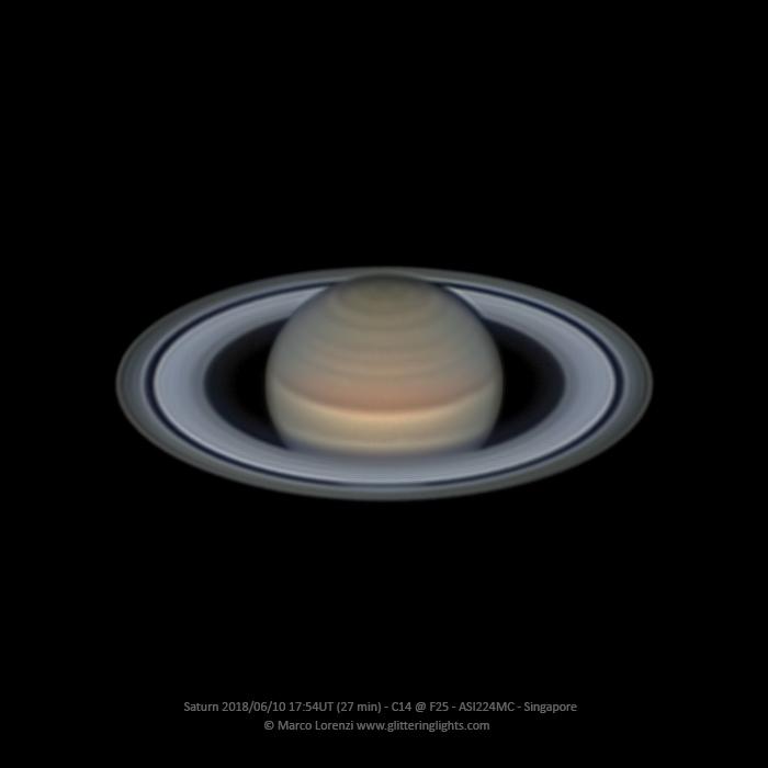 Saturn on June 10, 2018