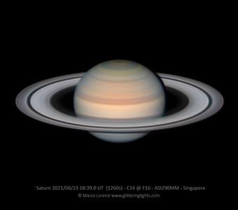 Saturn on June 23, 2021