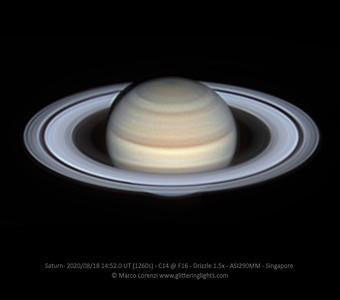Saturn on August 18, 2020
