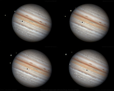 Playful Jupiter's Moons (July 21, 2021) - 4 clip panel