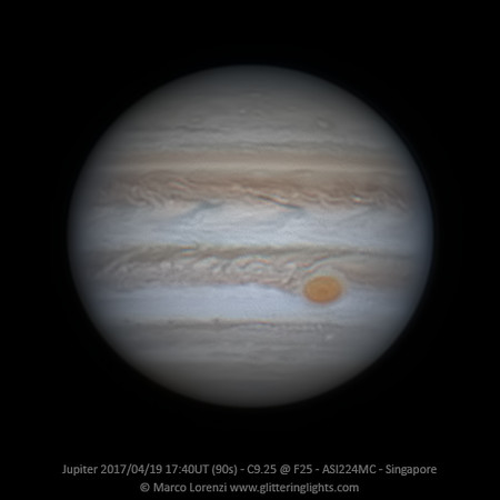 Jupiter April 19, 2017 - 17:40 UT