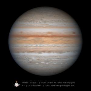 Jupiter on July 31, 2021