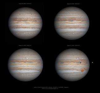 Jupiter and the North Temperate Belt outbreak evolution