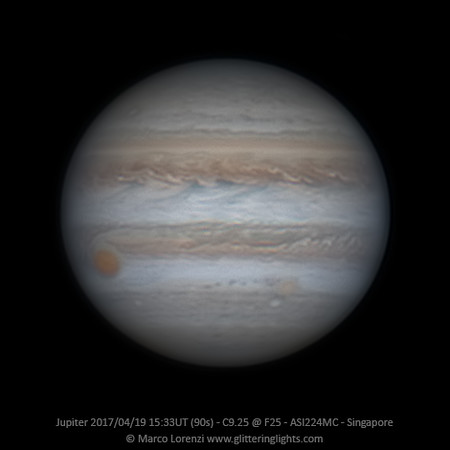 Jupiter April 19, 2017 - 15:33 UT