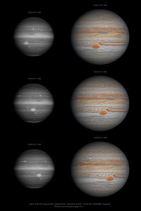 Jupiter and the North Temperate Belt outbreak I & III