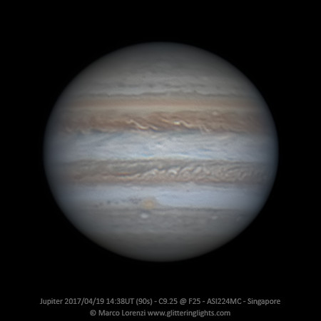 Jupiter April 19, 2017 - 14:38 UT