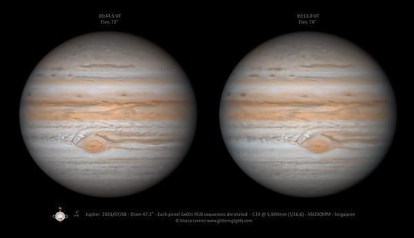 Jupiter on July 18, 2021